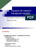 Equipos de Carguio-transporte-Vaciado
