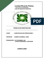 Trabajo de Investigacion - Inv. Operat. II