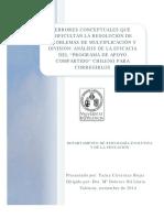 Errores conceptuales que dificultan la resolución de problemas de multiplicación y división Análisis de la eficacia del Programa de Apoyo Compartido chileno para corregirlos
