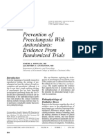 Prevention Preeclampsia Antioxidant