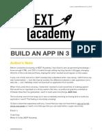 Build an App in 3 Steps