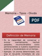 Memoria Tipos Olvido
