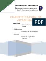 Informe Cuantificación Vitamina C