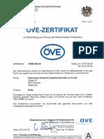 ÖVE Zertifikat AUSTRIA