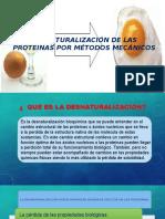 Desnaturalización de Las Proteinas
