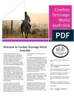 Cowboy Dressage Australia Newsletter Oct 2016 Issue #1