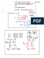 3x3 Determinants and Cramers Rule 4x4 Determinants