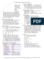 07 Basic - Matrices and Arrays Cheat Sheet