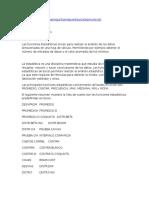 Funciones Estadisticas en Excel