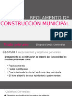 Reglamento de Construcción Municipal