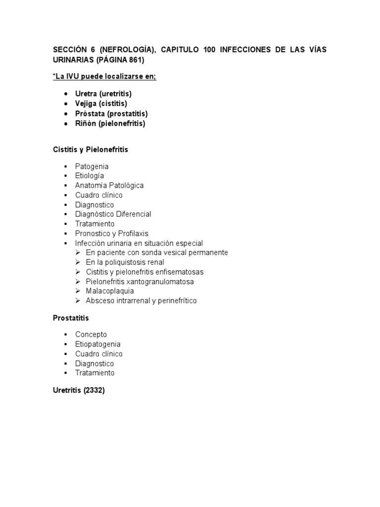 cistitis prostatitis y uretritis
