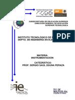 Cuadernillo Instrumentacin Unidad 1 Prof. Saul Osuna