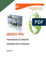Presentación Abengoa Perú PNC 2013