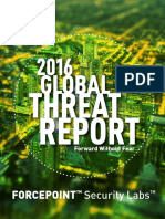 Forcepoint 2016 Global Threat Report En