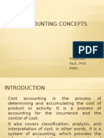 Concept of Cost Accounting, Methods and Techniques