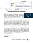 A High-Performance FIR Filter Architecture for Fixed and Reconfigurable Applications