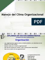 El Manejo Del Clima Organizacional