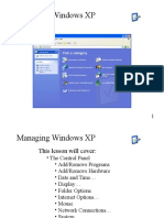 1a Chapter 7 - Managing Windows XP
