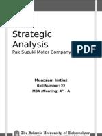 Strategic Analysis of Pak Suzuki Motor Company