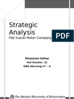 Strategic Analysis of Pak Suzuki Motor Company