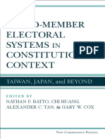 Mixed-Member Electoral Systems in Constitutional Context Taiwan, Japan, and Beyond