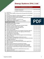 Pre Comm Checklist