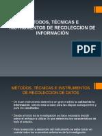 Metodos y Tecnicas de Recoleccion de Datos