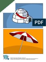 Igloo and Umbrella