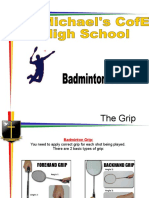 badminton shots book