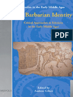 (Studies in the Early Middle Ages Volume 4) Andrew Gillett (Editor)-On Barbarian Identity_ Critical Approaches to Ethnicity in the Early Middle Ages (Studies in the Early Middle Ages 4)-Brepols Publis