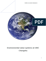 Environmental Value Systems at UWC Changshu Survey Report