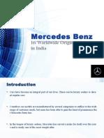 Mercedes Benz – Its Worldwide Origin and Status in India