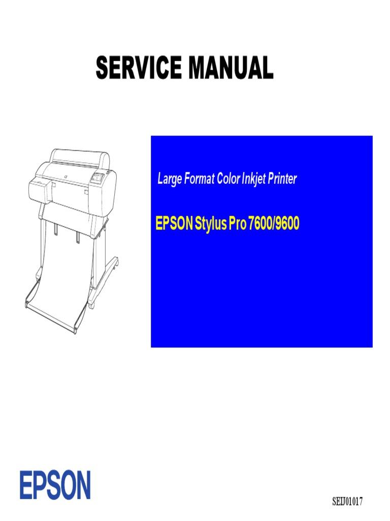 Epson Stylus Pro-7600 9600 Sm 1 | Troubleshooting | Power Supply