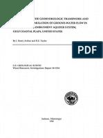 Definition of the Geohydrologic Framework