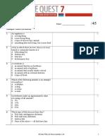2015 classification test 1 que