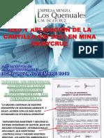 Uso y Aplicacion de La Cartilla GSI 2013 en Mina Iscaycruz