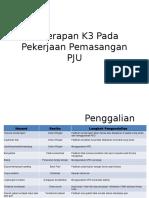 Penerapan K3 Pada Pekerjaan Pemasangan PJU