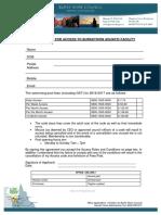 Aquatic Centre - Membership Form