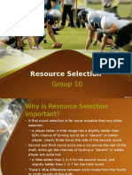 Resource selection in Sports