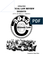 Political Law review digests