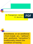 Understanding Anaesthesia for Physiotherapist