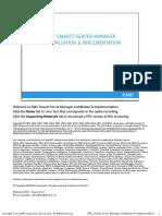 EMC Smarts Server Manager Installation and Implementation