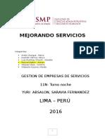 Mejorando Servicios