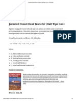Jacketed Vessel Heat Transfer (Half Pipe Coil) – ChE Guide