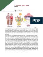 Sekilas Budaya Provinsi Jawa Barat