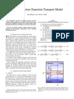 Bipolar Transistor Journal I