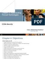 CCNAS Ch4 Implementing Firewall Technologies