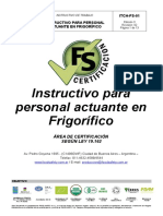 ITCH-FS-01 Instructivo Para Personal Actuante en Frigorificos-nueva Revision