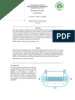 Campos Magnéticos Informe de Fisica