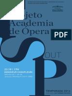 Programa de Sala | Academia de Ópera | Outubro